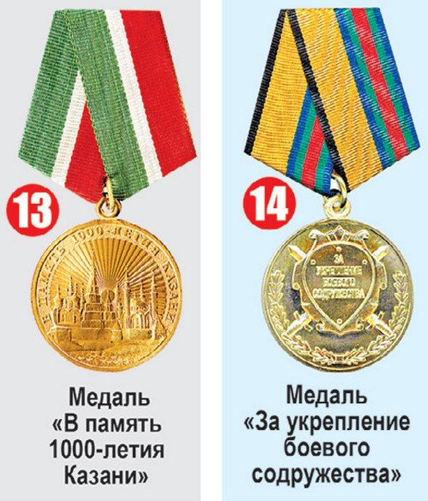 Медали и ордена министра обороны Сергея Шойгу
