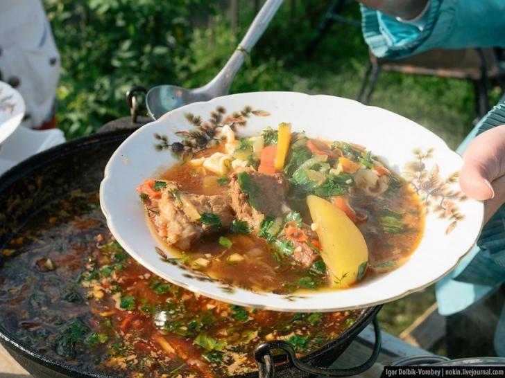 Приготовить говядина с грибами в мультиварке