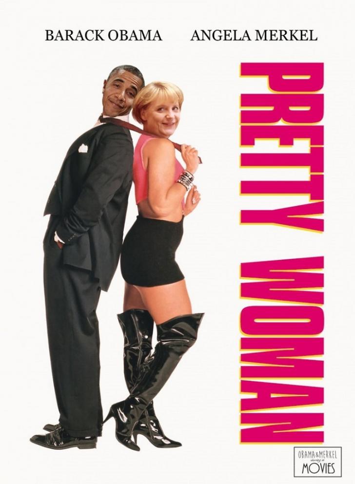 Путин, Обама и Меркель на постерах к знаменитым фильмам