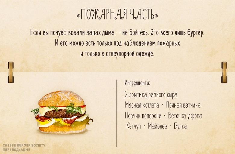 Рецепт бургера на английском языке с переводом