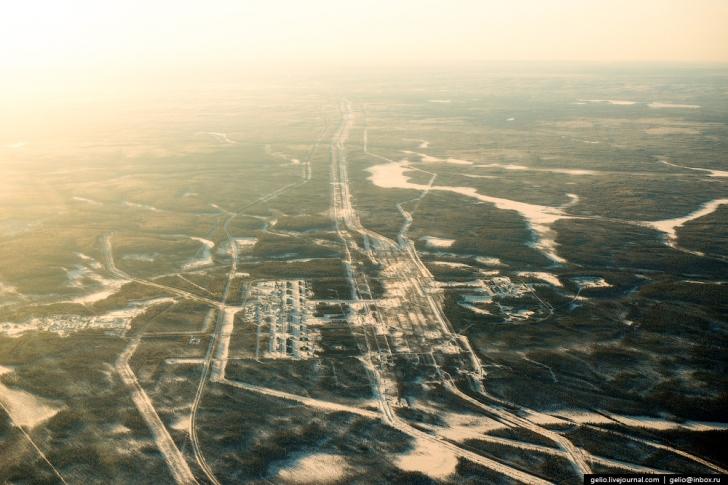 Ханты-Мансийский автономный округ с высоты (ХМАО)