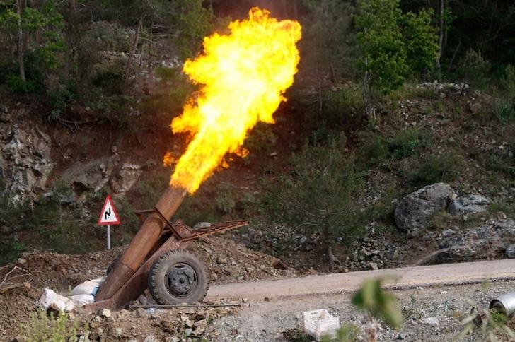 Самодельное оружие сирийских боевиков